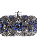 cheap Cocktail Dresses-Women's Buttons / Crystals Evening Bag Rhinestone Crystal Evening Bags Acrylic / Alloy Silver / Fall & Winter