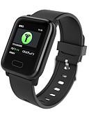 povoljno Digitalni satovi-DS120 Muškarci Smart Satovi Android iOS Bluetooth Vodootporno Ekran na dodir Heart Rate Monitor Mjerenje krvnog tlaka Sportske EKG + PPG Brojač koraka Podsjetnik za pozive Mjerač aktivnosti Mjerač sna