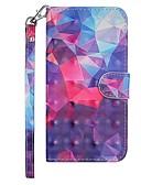 halpa Puhelimen kuoret-Etui Käyttötarkoitus Samsung Galaxy Galaxy S10 Plus Lomapkko / Korttikotelo / Tuella Suojakuori Geometrinen printti / Color Gradient Kova PU-nahka