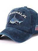 رخيصةأون قبعات الرجال-كل الفصول أزرق البحرية أزرق فاتح كاكي قبعة البيسبول قبعة شمسية ألوان متناوبة للجنسين قطن بوليستر,أساسي