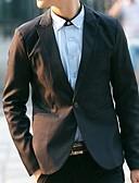 hesapli Erkek Blazerları ve Takım Elbiseleri-Erkek Blazer Şal Yaka Polyester Mor / Açık Mavi / Navy Mavi XL / XXL / XXXL