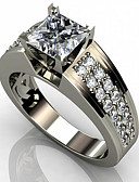 cheap Robes & Sleepwear-Men's Women's Cubic Zirconia Classic Ring Joy Stylish Ring Jewelry White For Engagement Daily 6 / 7 / 8 / 9 / 10