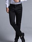 hesapli Erkek Pantolonları ve Şortları-Erkek Temel İnce Chinos Pantolon - Solid Siyah 34 36 38