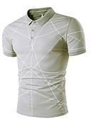 cheap Men's Tees & Tank Tops-Men's Slim T-shirt - Solid Colored Shirt Collar White L