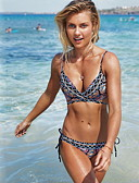 cheap Bikinis-Women's Navy Blue Tankini Swimwear - Geometric S M L Navy Blue