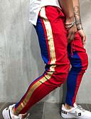 זול מכנסיים ושורטים לגברים-בגדי ריקוד גברים בסיסי רזה מכנסי טרנינג מכנסיים - צבעים מרובים אודם אפור צהוב XL XXL XXXL