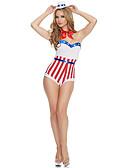 halpa Uinti-cosplay-Uimapuku Uimapuvut Cosplay-puvut Beach Girl Aikuisten Cosplay-asut Cosplay Halloween Naisten Valkoinen Raidoitettu Joulu Halloween Karnevaali