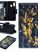 halpa Puhelimen kuoret-Etui Käyttötarkoitus Samsung Galaxy A6 (2018) / A6+ (2018) / Galaxy A7(2018) Lomapkko / Korttikotelo / Tuella Suojakuori Perhonen Kova PU-nahka