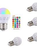 preiswerte Exotische Herrenunterwäsche-5 Stück 3 W Smart LED Glühlampen 200-250 lm E26 / E27 1 LED-Perlen SMD 5050 Smart Abblendbar Ferngesteuert RGBW 85-265 V / RoHs