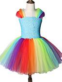 رخيصةأون فساتين البنات-الركبة طول شبكة توتو اللباس طفل فتاة الخريف طفل راقصة دعوى تنورة