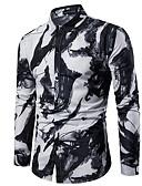 abordables Camisas de Hombre-Hombre Camisa Delgado Bloques Blanco XXL