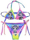 halpa Uinti-cosplay-Bikini Uimapuku Uimapuvut Cosplay-puvut Beach Girl Lasten Cosplay-asut Cosplay Halloween Purppura Piirretty Tulostus Joulu Halloween Karnevaali