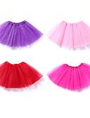 Χαμηλού Κόστους Φορέματα για κορίτσια-Μπαλέτο Τούτου Φούστα φούσκα Κάτω από τη φούστα Δεκαετία του 1950 Επίπεδα Κόκκινο Ροζ Φούξια Μεσοφόρι / Παιδικά / Κρινολίνο
