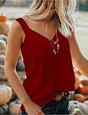 billige T-shirt-V-hals Dame - Ensfarvet Plusstørrelser T-shirt Grå