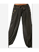 cheap Women's Pants-Women's Street chic Wide Leg / Chinos Pants - Solid Colored Black
