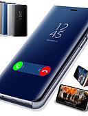 hesapli Cep Telefonu Kılıfları-Pouzdro Uyumluluk Samsung Galaxy J8 (2018) / J7 Duo / J7 Prime Satandlı / Kaplama / Ayna Tam Kaplama Kılıf Solid Sert PU Deri