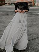 hesapli Kadın Etekleri-Kadın's Maksi Salıncak Etekler - Solid Gümüş M L XL / İnce
