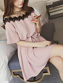 abordables Vestidos de Mujer-Mujer Básico Vaina Vestido Un Color Mini