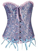 cheap Corsets & Bustiers-Women's Hook & Eye Overbust Corset - Geometric