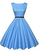preiswerte Retro-Königin-Damen Retro A-Linie Kleid Punkt Knielang