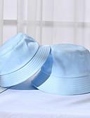 preiswerte Damenhüte-Damen Unisex Party Aktiv nette Art,Baumwolle Fischerhut Schlapphut Sonnenhut Solide Blumen Frühling Ganzjährig Beige Purpur Leicht Blau
