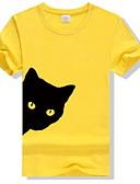 povoljno Majica s rukavima-Majica s rukavima Žene Životinja Slim, Print Red