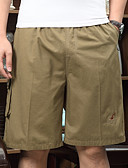 levne Pánské kalhoty a kraťasy-Pánské sportovní Kraťasy Kalhoty - Jednobarevné Tmavě šedá