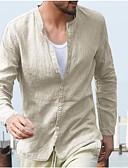 billige T-shirts og undertrøjer til herrer-Herre - Ensfarvet Skjorte Navyblå L