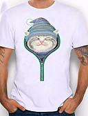 abordables Camisetas y Tops de Hombre-Hombre Camiseta Animal Blanco XXL