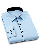 povoljno Košulje-Veći konfekcijski brojevi Majica Muškarci Pamuk Jednobojni Slim, Kolaž Obala