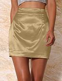 hesapli Kadın Etekleri-Kadın's Temel Bandaj Etekler - Solid Kırk Yama Gümüş Şarap Haki XL XXXL XXL