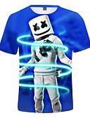 povoljno Majice za dječake-Djeca Dječaci Aktivan Print Kratkih rukava Pamuk Majica s kratkim rukavima Navy Plava