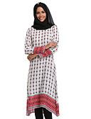 cheap Arabian Clothing-Women's Trumpet / Mermaid Dress Blue Red M L XL