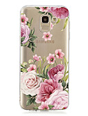 hesapli Cep Telefonu Kılıfları-Pouzdro Uyumluluk Samsung Galaxy J7 (2017) / J6 (2018) / J6 Plus Şeffaf / Temalı Arka Kapak Çiçek Yumuşak TPU
