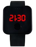 halpa Parien kellot-YAZOLE Pariskuntien Digitaalinen Watch Digitaalinen Silikoni Musta / Valkoinen / Sininen LED-valo Arkikello Digitaalinen Muoti minimalistinen - Punainen Sininen Pinkki Yksi vuosi Akun käyttöikä