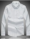 billige Herreskjorter-Herre - Stribet Skjorte Blå XXXL