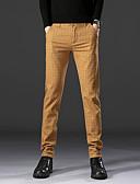 זול מכנסיים ושורטים לגברים-בגדי ריקוד גברים בסיסי חליפות / צ'ינו מכנסיים - משובץ קלאסי שחור כחול נייבי חאקי 34 36 38
