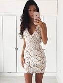 hesapli Kadın Elbiseleri-Kadın's Zarif Kılıf Elbise - Solid Mini