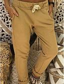 hesapli Bluz-Kadın's Temel Büyük Bedenler İnce Chinos Pantolon - Solid Gri Sarı Haki XXXL XXXXL XXXXXL