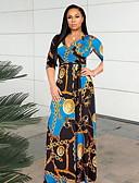 povoljno Maxi haljine-Žene A kroj Haljina - Rese, Geometrijski oblici Maxi