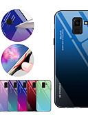 hesapli Cep Telefonu Kılıfları-Pouzdro Uyumluluk Samsung Galaxy J8 (2018) / J6 (2018) / J6 Plus Şoka Dayanıklı Arka Kapak Renkli Gradyan Sert TPU / Temperli Cam