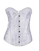 cheap Corsets & Bustiers-Women's Hook & Eye Overbust Corset - Solid Colored / Geometric