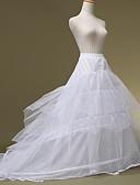 رخيصةأون ملابس الأميرات-العروس خمسينيات طبقات كوستيوم لوليتا كلاسيكية وتقليدية نسائي ثوب نسائي القرينول قماش قطني أبيض عتيقة تأثيري زفاف مناسب للحفلات أميرة