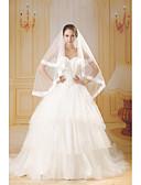 billige Bryllupskjoler 2019-A-linje Kjære Kapellslep Tyll Made-To-Measure Brudekjoler med Perlearbeid av ANGELAG