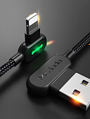 זול כבל & מטענים iPhone-תאורה כבל 1m-1.99m / 3ft-6ft קלוע / תשלום מהיר ניילון מתאם כבל USB עבור iPhone