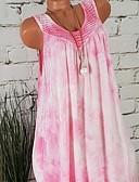 abordables Vestidos de Mujer-Mujer Camisa Vestido - Estampado, Geométrico Hasta la Rodilla