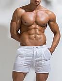 hesapli Erkek Tişörtleri ve Atletleri-Erkek Temel AB / ABD Beden İnce Şortlar Pantolon - Solid Beyaz Siyah Açık Mavi L XL XXL