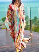 זול שמלות נשים-מקסי פס - שמלה טוניקה גדול חוף בגדי ריקוד נשים