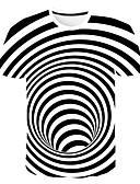 hesapli Taytlar-Erkek Yuvarlak Yaka İnce - Tişört Geometrik AB / ABD Beden Beyaz