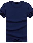 abordables Camisetas y Tops de Hombre-Hombre Tallas Grandes Estampado Camiseta, Escote Redondo Un Color Blanco XXXL